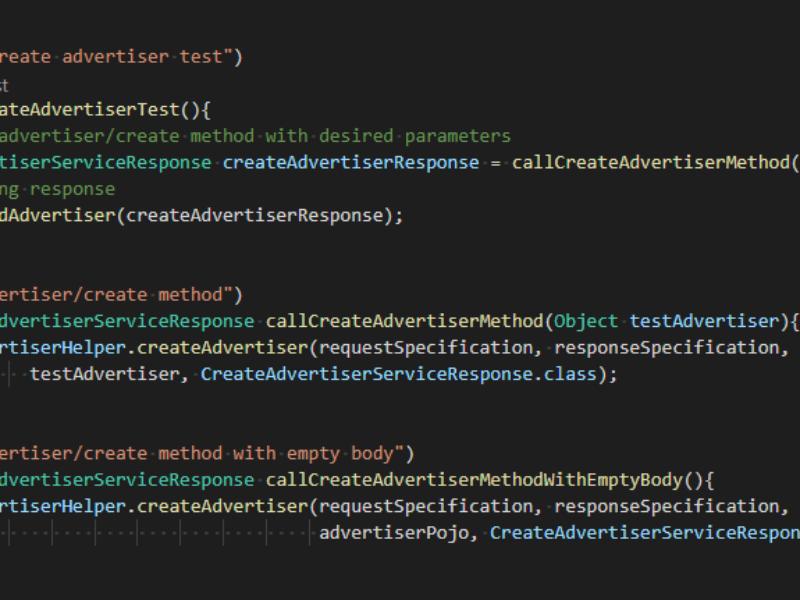 Автоматизация тестирования функционала внешнего API для клиента в сфере Ad Tech